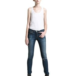 Rag & Bone Ripped Skinny Stretch Jeans Size 26
